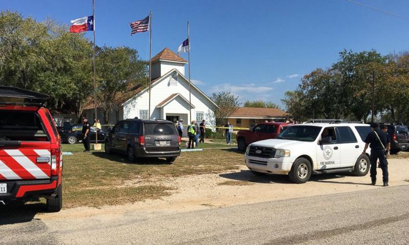 موقع حادثة إطلاق النار على كنسية في تكساس - 5 تشرين الثاني 2017 (واشنطن بوست)