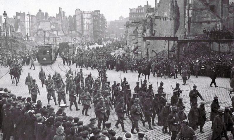جيوش في شوارع أوروبا أثناء الحرب العالمية الأولى (انترنت)