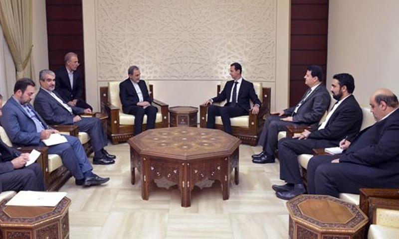 الاسد يلتقي علي أكبر ولايتي في دمشق - 7 تشرين الثاني 2017 (سانا)