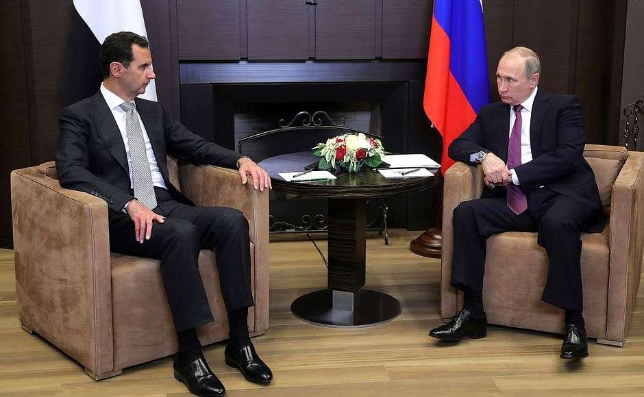 رئيس النظام السوري في زيارة إلى سوتشي الروسية - 20 تشرين الثاني 2017 (وكالات روسية)