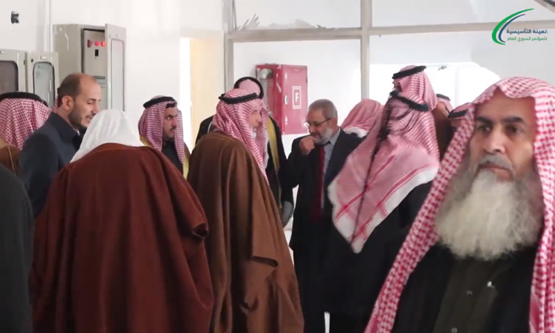 من الاجتماع التحضري لمؤتمر العشائر في الشمال السوري - 23 كانون الأول 2017 (الهيئة التأسيسية لحكومة الإنقاذ السورية)