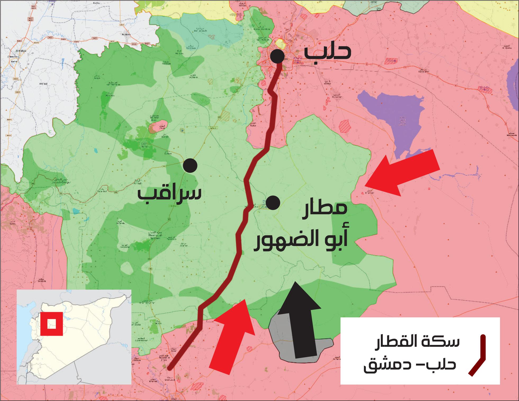 خريطة توزع السيطرة في محافظة إدلب – 16 كانون الأوخريطة توزع السيطرة في محافظة إدلب – 16 كانون الأول 2017 (عنب بلدي)ل 2017 (عنب بلدي)