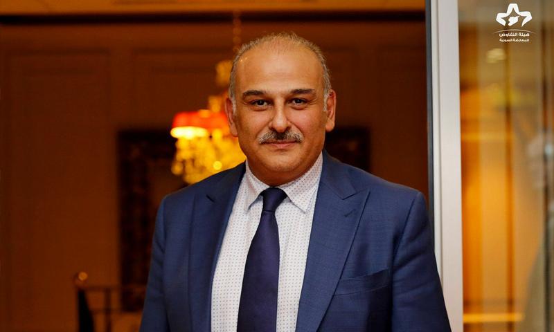 الفنان والمعارض السوري جمال سلميان في جنيف (هيئة التفاوض العليا)