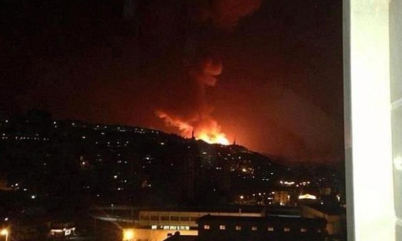 استهداف مركز جمرايا للبحوث العلمية بقصف إسرائيلي (فيس بوك)