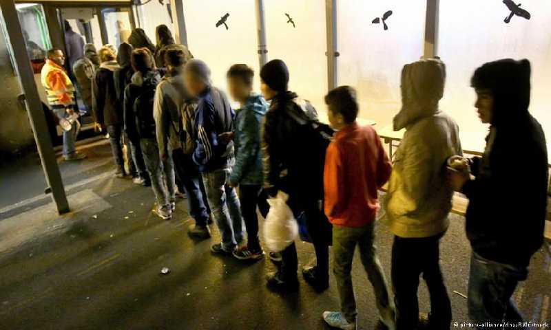 لاجئون في ألمانيا(وكالة الأنباء الألمانية)
