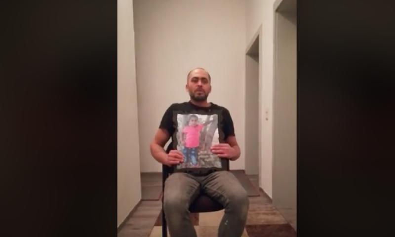 حسام حمزة والد الطفل الفلسطيني السوري المفقود منذ عام 2015 (فيس بوك)