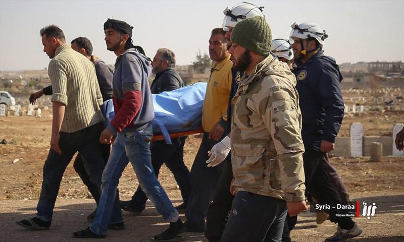 تشييع القيادي ماهر المصري في مدينة درعا - 13 كانون الأول 2017 (نبأ)