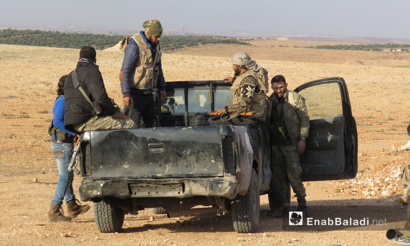 رباط فصيل جيش النصر على الجبهات العسكرية في ريف حماة الشرقي - 14 كانون الأول 2017 (عنب بلدي)