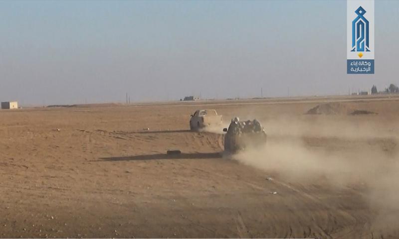 هيئة تحرير الشام خلال المعارك الدائرة في ريف حماة الشرقي - 4 كانون الأول 2017 - (وكالة إباء)