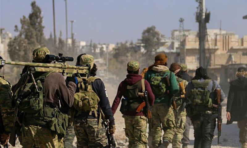عناصر من حركة أحرار الشام الإسلامية في ريف دمشق الغربي - (انترنت)