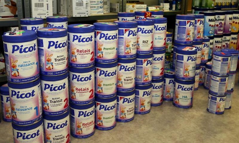 """حليب أطفال """"بيكوت"""" الذي تنتجه شركة """"لاكتاليس"""" الفرنسية (انترنت)"""