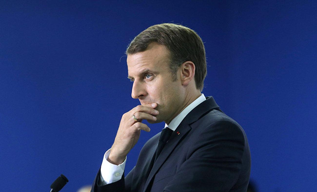 الرئيس الفرنسي إيمانويل ماكرون (انترنت)