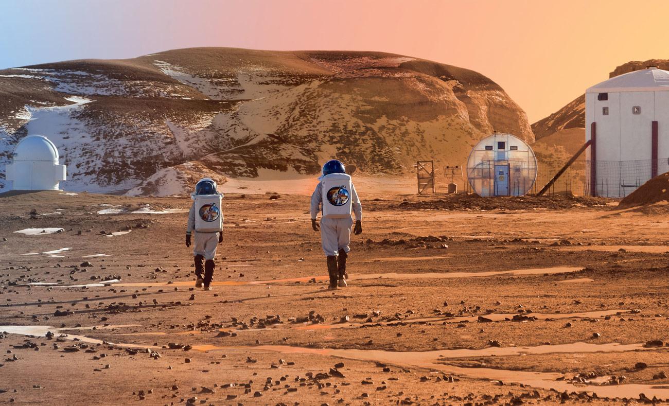 الكوكب الأحمر سيحمل الناجون من البشر في حال حدوث حرب عالمية (انترنت)