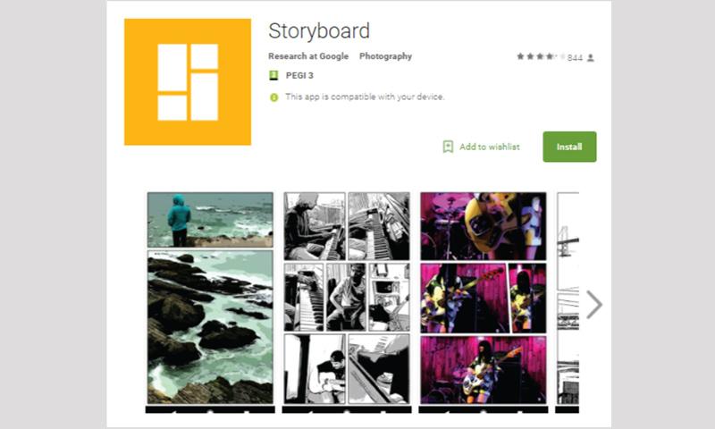 """تطبيق """"Storyboard"""" في """"جوجل بلاي"""""""