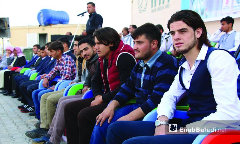 عرس جماعي في قرية سجو برعاية منظمة iHH التركية - 3 تشرين الثاني 2017 (عنب بلدي)
