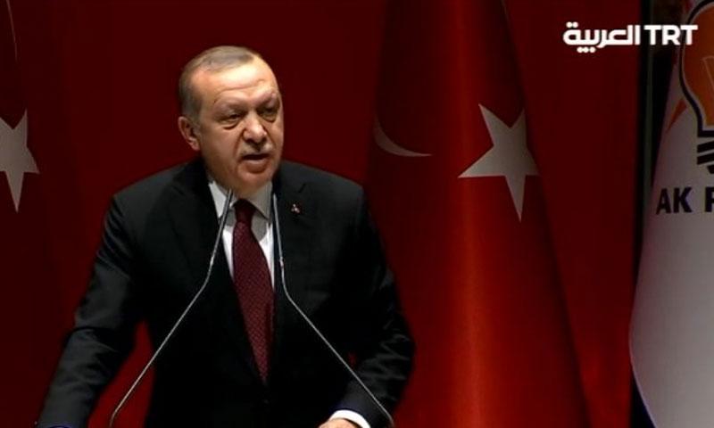 الرئيس التركي رجب طيب أردوغان من أنقرة - 26 كانون الثاني 2018 (TRT)