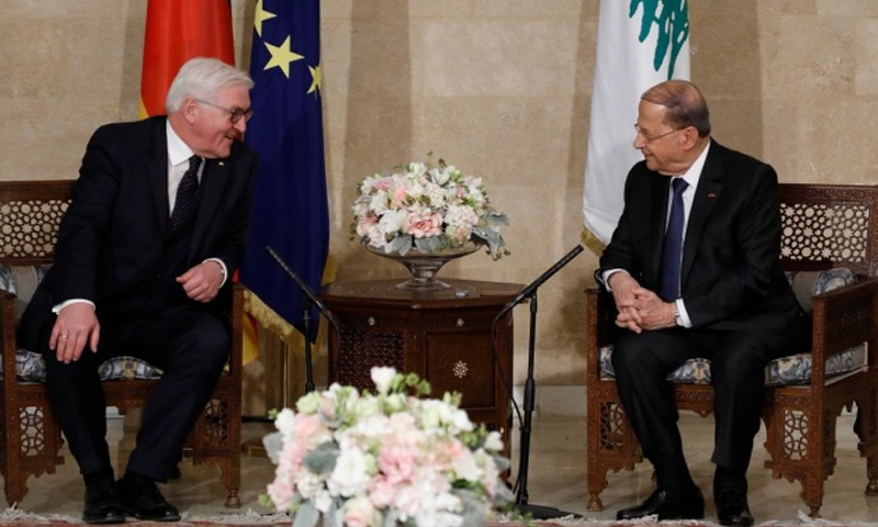 الرئيس اللبناني ميشال عون ونظيره الألماني فرانك فالتر شتاينماير - الاثنين 29 كانون الثاني (NNA)