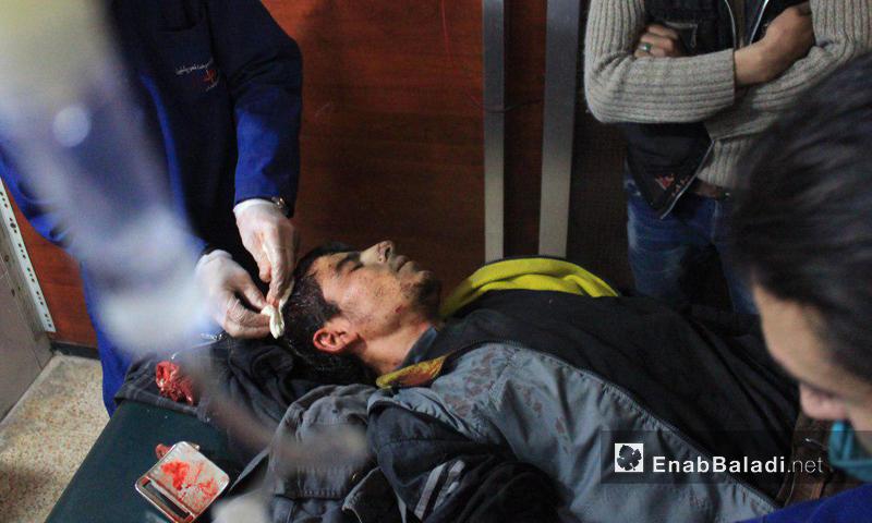 جريح نتيجة القصف الجوي على بلدة مديرا - 8 كانون الثاني (عنب بلدي)