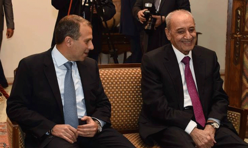 وزير الخارجية جبران باسيل ورئيس مجلس النواب نبيه بري (النهار)