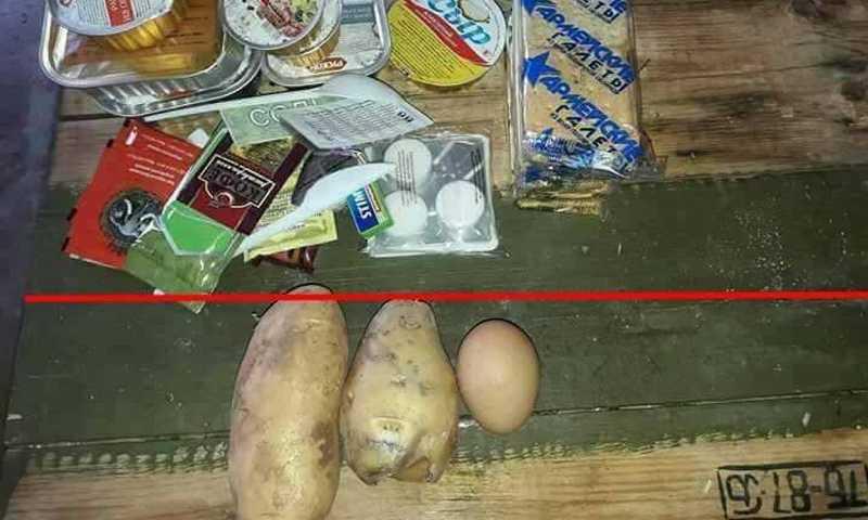 صورة تدوالتها صفحات تواصل اجتماعي عن الفرق بين طعام قوات الأسد والجيش الروسي
