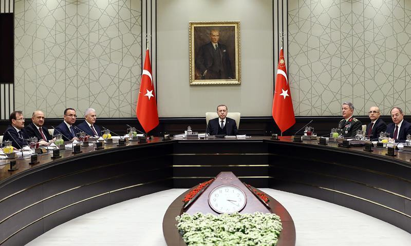 اجتماع مجلس الأمن القومي التركي - 17 من كانون الثاني 2018 (الأناضول)