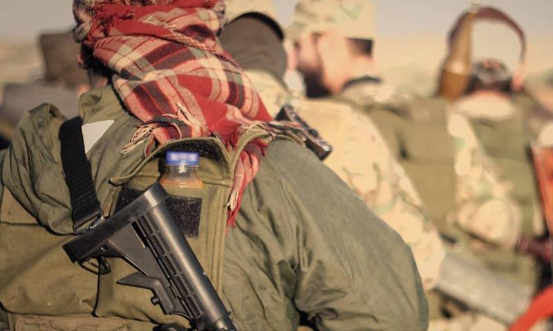 مقاتلو المعارضة خلال معارك جنوبي إدلب - 11 كانون الثاني 2018 (أحرار الشام)