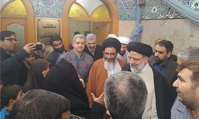 زيارة متولي شؤون الروضة الرضويةابراهيم رئيس إلى السيدة زينت-29 كانون الثاني(فارس)
