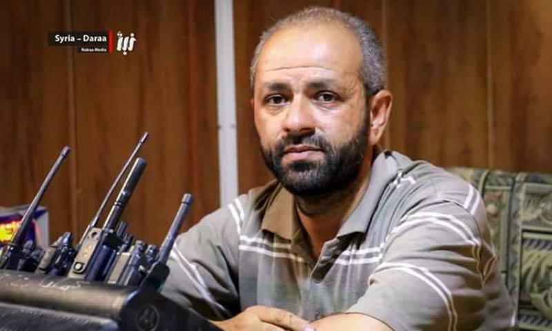 """القيادي في """"الجيش الحر""""، رداد أبو نبوت - 2017 (وكالة نبأ)"""