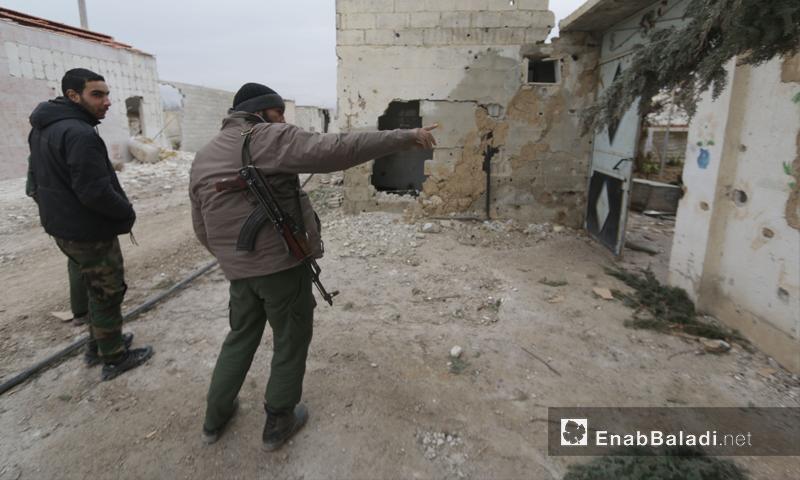 مقاتلو المعارضة في منطقة المرج بريف دمشق (أرشيف عنب بلدي)