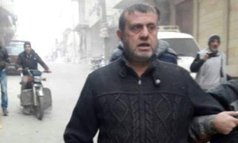 الدكتور فراس الجندي، وزير الصحة في الحكومة السورية المؤقتة عقب إصابته في القصف على معرة النعمان جنوبي إدلب - 11 كانون الثاني 2018 (تويتر)