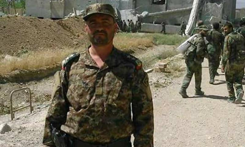 """العميد في """"الحرس الجمهوري"""" التابع لقوات الأسد، حيدر الحسن - 7 كانون الثاني 2018 (صفحة عرين الحرس الجمهوري في فيس بوك)"""