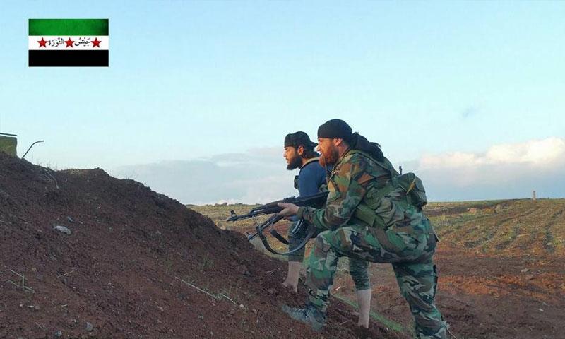مقاتلون من المعارضة في درعا - 28 كانون الثاني 2018 (جيش الثورة)