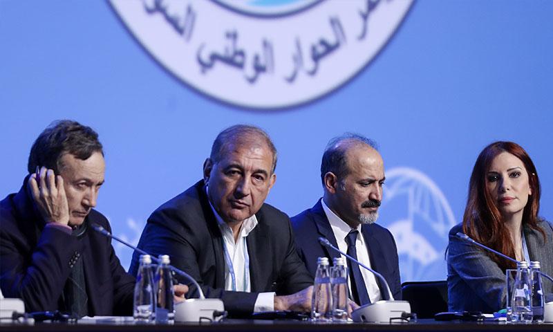 أعضاء هيئة رئاسة مؤتمر سوتشي - 30 كانون الثاني 2018 (تاس)