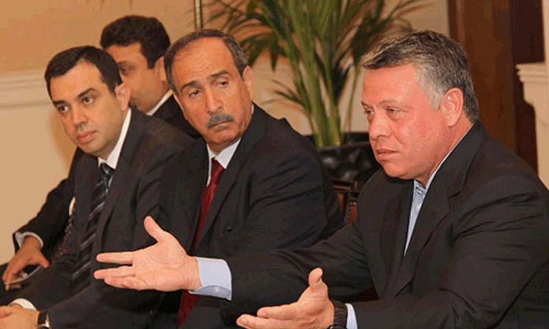 رياض أبو كركي مع العاهل الأردني (أخبار الأردن)