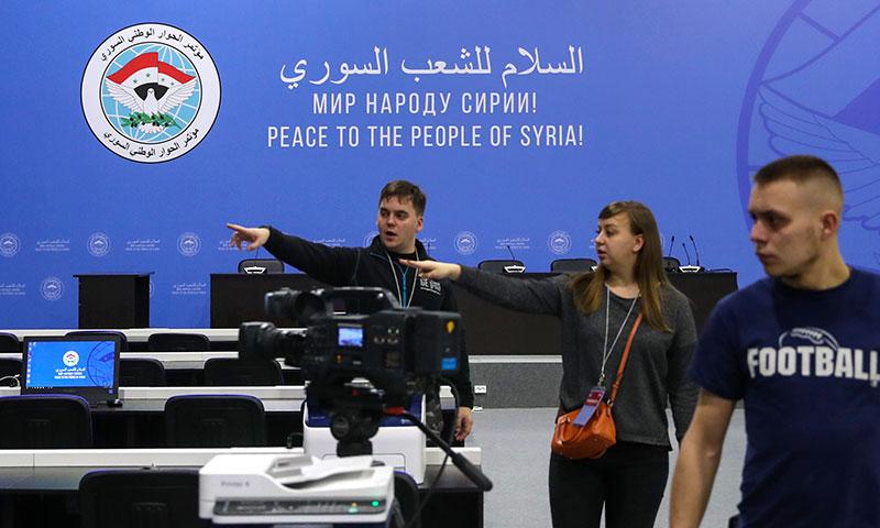من التجهيزات الروسية لمؤتمر سوتشي - 29 كانون الثاني 2018 (فاليري شاريفولين)