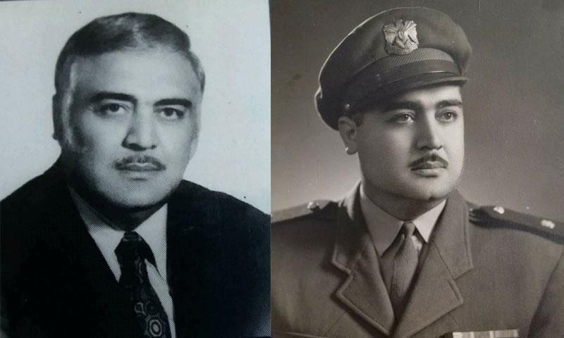 صورتان للعقيد محمد هواش في مرحلتين عمريتين مختلفتين (سمير الهواش في فيس بوك)
