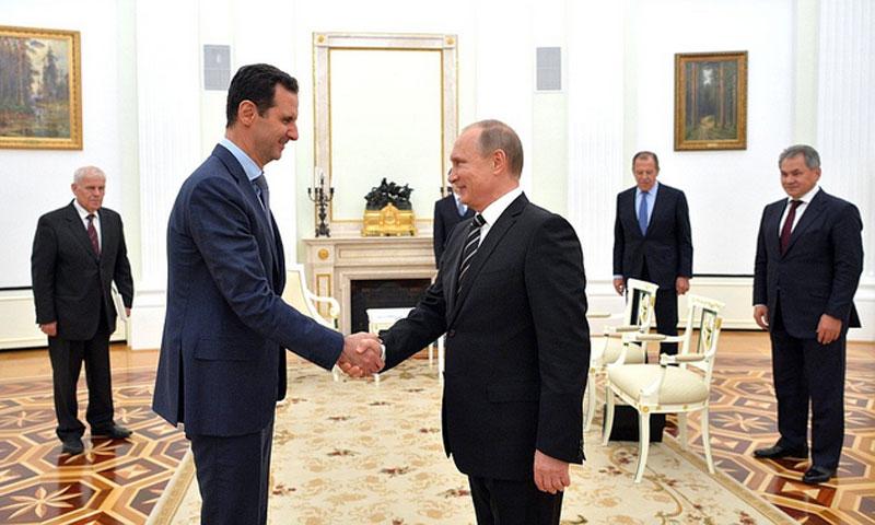 تعبيرية: الأسد وبوتين في موسكو - 2017 (وكالات)