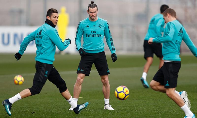 تدريبات للاعبي ريال مدريد - 25 كانون الثاني 2017 (حساب النادي في تويتر)