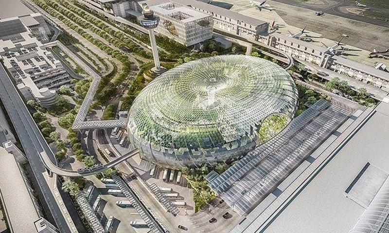 """تصميم مطار """"شانغي"""" من الخارج (انترنت)"""