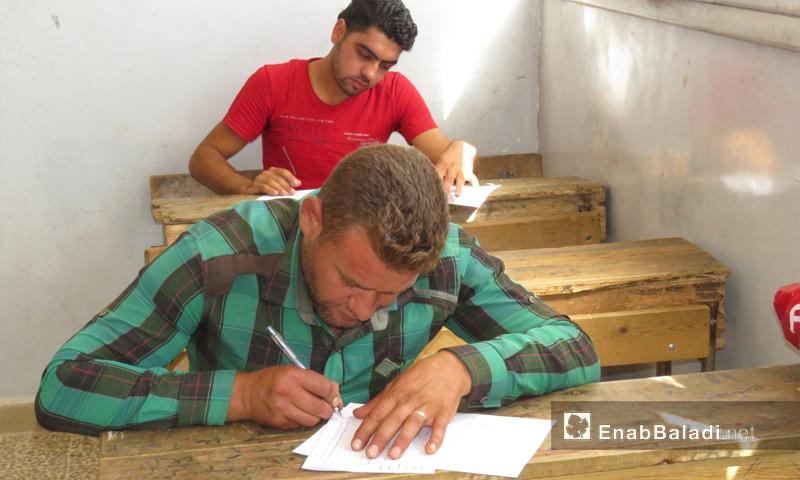 اختبار قبول المعلمين في ريف حماة - تموز 2017 (عنب بلدي)