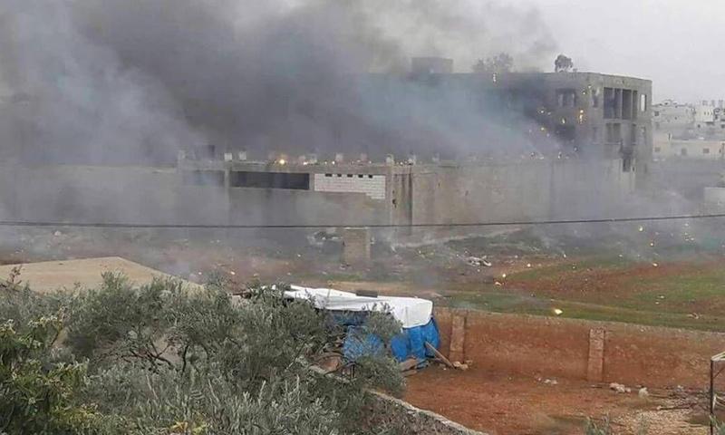 الفرن الآلي في سراقب بريف إدلب - 3 كانون الثاني 2018 (ناشطون)