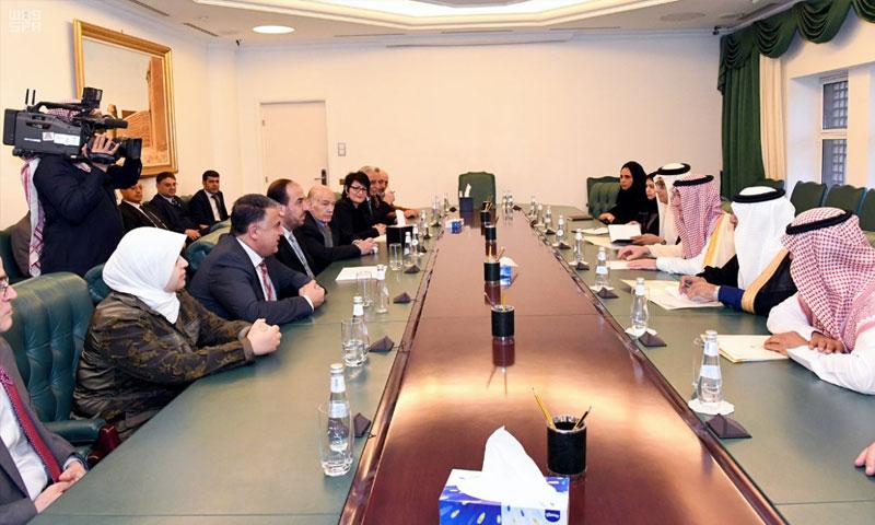 من اجتماع وفد المعارضة في الرياض - 21 كانون الثاني 2018 (واس)