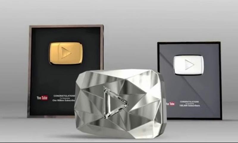 """دروع """"يوتيوب"""" للقنوات """"الأكثر شعبية"""" (انترنت)"""