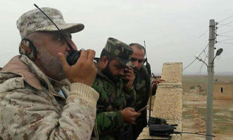 مقاتلون من قوات الأسد في ريف إدلب - كانون الثاني 2018 (فيس بوك)