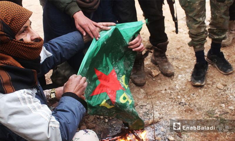 الجيش الحر في معركة غصن الزيتون في عفرين شمالي حلب - 23 كانون الثاني 2018 (عنب بلدي)