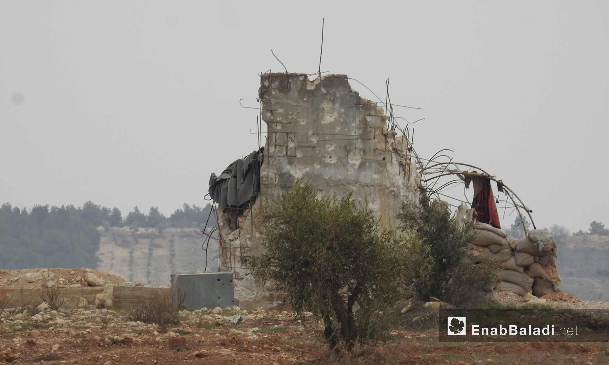 دشم وحدات حماية الشعب الكردية على محور شران بريف مدينة عفرين - 11 شباط 2018 (عنب بلدي)