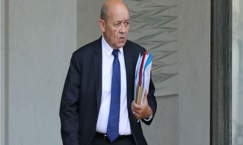 وزير الخارجية الفرنسي جان إيف لودريان 24 كانون الثاني(فرانس برس)
