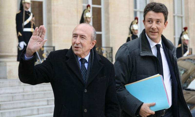 وزير الداخلية الفرنسي جيرار كولومب في 21 شباط (أ ف ب)
