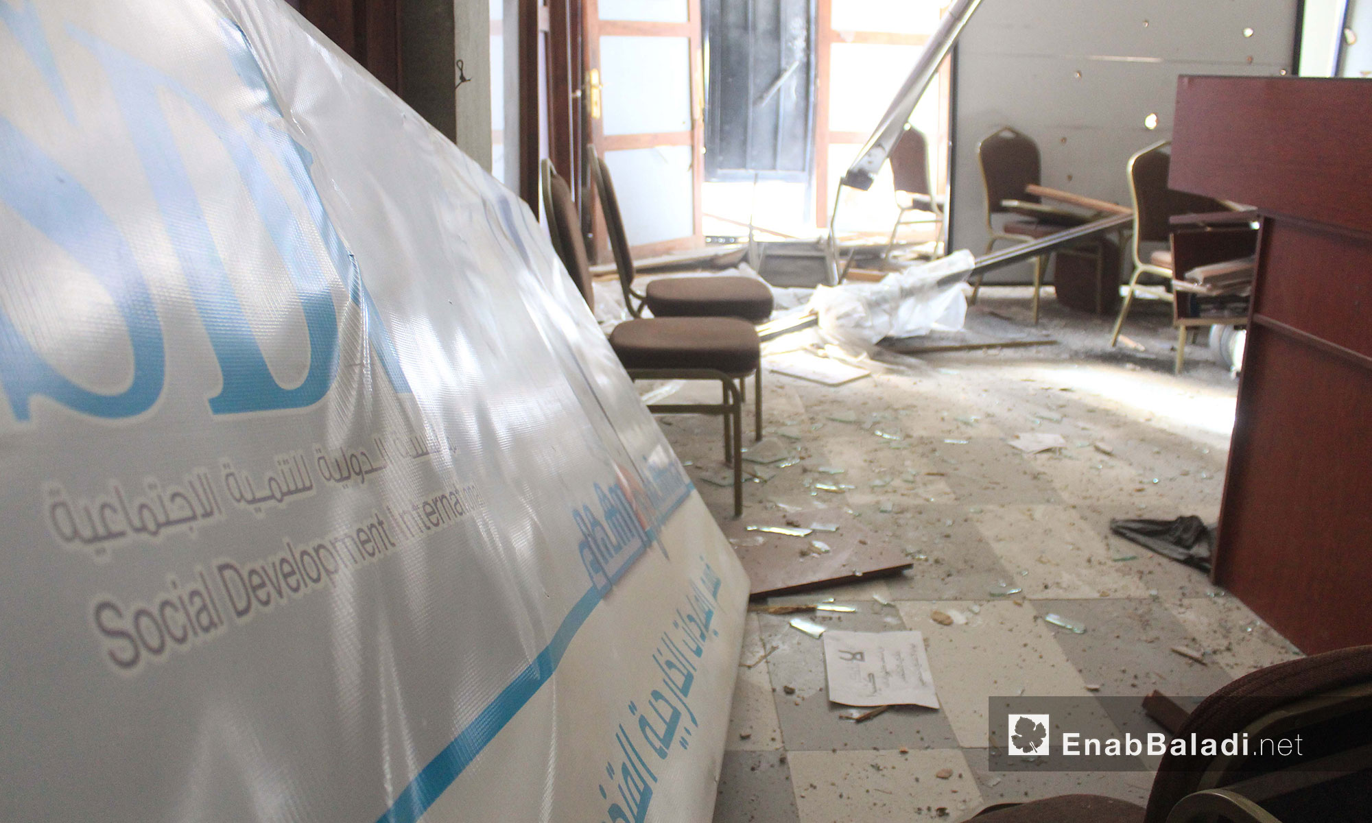 مشفى الشفاء في حمورية بعد استهدافه في الغوطة الشرقية - 21 شباط 2018 (عنب بلدي)