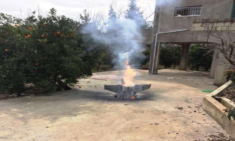 الصاروخ المضاد للطائرات في وادي الحاصباني في لبنان 10 شباط(الوكالة الوطنية للأنباء)